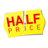 Half Price Sticker Royalty Free Stock Images