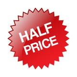 Half price sticker. Editable vector illustration on isolated white background stock illustration