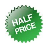 Half price sticker. Editable vector illustration on isolated white background vector illustration