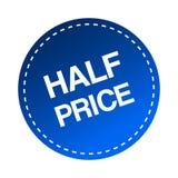 Half price sticker. Editable vector illustration on isolated white background royalty free illustration