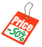 Half price tag Stock Images