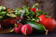 Half of radish on the wooden background Royalty Free Stock Photos