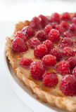 Half of the raspberry pie Royalty Free Stock Photography