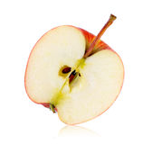 Half red apple isolated Stock Photos