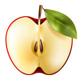 Half red apple Royalty Free Stock Photos