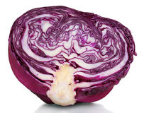 Half of red cabbage Stock Photo