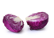 Half of red cabbage isolated on white. Royalty Free Stock Image