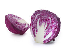 Half of red cabbage isolated on white. Royalty Free Stock Photos