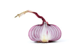 Half of red onion Royalty Free Stock Photos