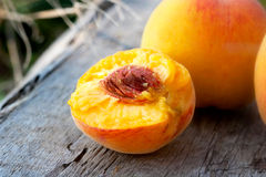 Half rich summer peach Royalty Free Stock Photography