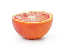 Half of ripe blood red orange isolated Royalty Free Stock Photos