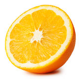 Half of ripe juicy orange Royalty Free Stock Images