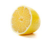 Half of ripe lemon Stock Photos