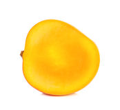 Half of Ripe mango isolated Royalty Free Stock Photos