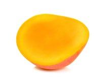 Half of Ripe mango isolated on the white background Royalty Free Stock Photography