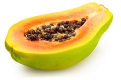 Half papaya on white background Royalty Free Stock Image