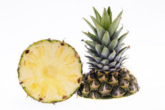 Half of ripe pinapple isolated on white background Royalty Free Stock Photography
