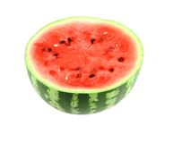 Half of ripe watermelon. Isolated Royalty Free Stock Images