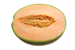 Half of Rock Melon Stock Photography