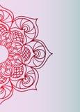 Half rode gradiënt van een mandala - een modieuze schets Royalty-vrije Stock Foto