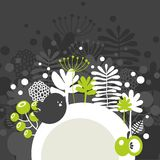 Half round banner with spring nature. Stock Photography