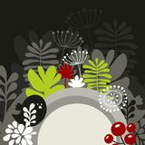 Half round banner with spring nature. Royalty Free Stock Photo