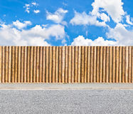 Half round post and rail fence Stock Images