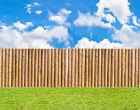 Half round post and rail fence Royalty Free Stock Photos