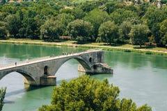 Half ruined bridge in Avignon, Provence, France Stock Image