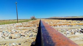 Rusted Rail at Promontory Point stock photography