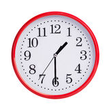 Half of the second round on a clock face Stock Photos
