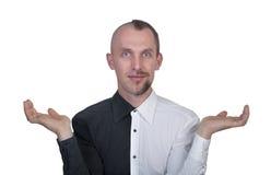 Half-shaved man Stock Image
