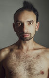 Half shaved man Royalty Free Stock Photography