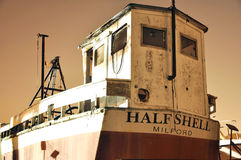 Half Shell Milford Boat Stock Image