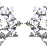 Half of silver star stock image