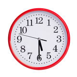 Half of the sixth on a round clock face Royalty Free Stock Image