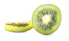 Half and Slice of Kiwi Fruit Royalty Free Stock Images