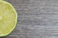 Half slice of lime Stock Photography