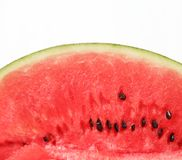 Half a slice of watermelon Stock Photography