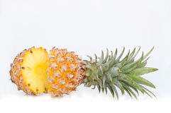 Half sliced ananas Royalty Free Stock Photo