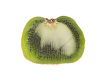 Half of sliced big kiwi fruit Stock Images
