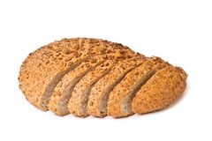 Half sliced brown bread Royalty Free Stock Photography