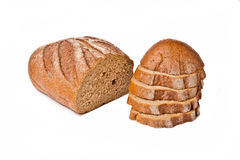 Half sliced brown bread Stock Photography