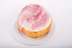 Half of Sliced Ham Stock Photography