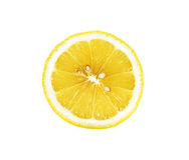 Half Sliced lemon isolated on the white background Stock Photography