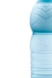 Half small water bottle with space for text Royalty Free Stock Photography