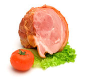 Half smoked and boiled ham Royalty Free Stock Photos