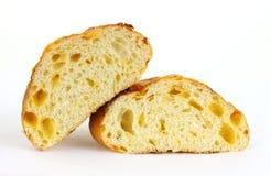 half snitt för brödcheddarost Royaltyfri Fotografi