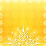 Half Snowflake on Christmas Background Stock Image