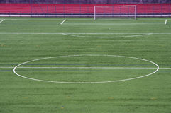 Half of a soccer field Royalty Free Stock Photo